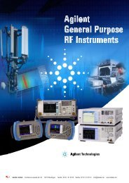 Agilent General Purpose RF Instruments - datatec Gmbh
