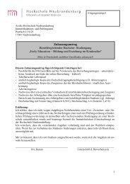 Zulassungsantrag - Hochschule Neubrandenburg