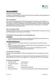 Merkblatt IB.AgrarKREDIT - Investitionsbank Schleswig-Holstein