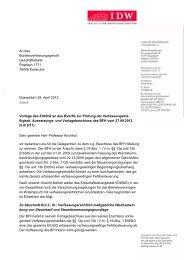 Stellungnahme BVerfG zur ErbSt - IdW