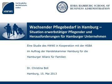 Wachsender Pflegebedarf in Hamburg – Situation ... - HWWI