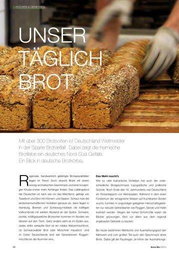 Mit über 300 Brotsorten ist deutschland ... - ingeborg-pils.de