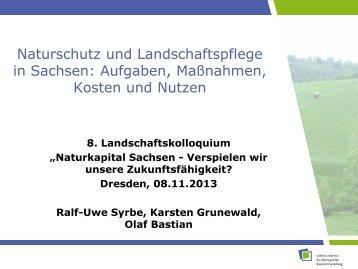Naturschutz und Landschaftspflege in Sachsen: Aufgaben ...