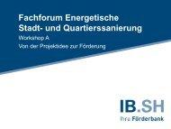 Von der Projektidee zur Förderung - Investitionsbank Schleswig ...