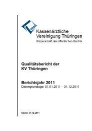 Qualitätsbericht der KV Thüringen Berichtsjahr 2011