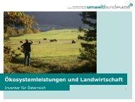 Ökosystemleistungen und Landwirtschaft