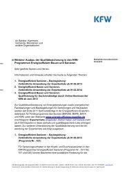 Download des Rundschreibens - KfW