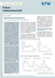 Fokus Nr. 21, Mai 2013, Zukunft braucht Investitionen - KfW