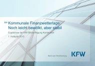 KfW Blitzbefragung Kommunen 1. Halbjahr 2013