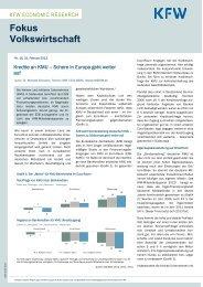 Schere in Europa geht weiter auf (PDF, 245 KB, barrierefrei) - KfW