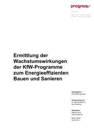 Ermittlung der Wachstumswirkungen der KfW-Programme zum ...