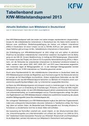 Tabellenband zum KfW-Mittelstandspanel 2013