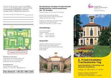 6. Friedrichstädter Tracheotomie-Tag - Krankenhaus Dresden ...