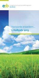 1. Halbjahr 2013 - Kirchenkreis Kleve