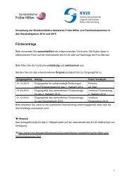 Informationen zu den Haushaltsjahren 2014 und 2015 - KVJS