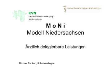 Michael Renken: M o N i - Aerztlich delegierbare Leistungen