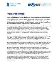 Presseinformation als PDF-Download - Kassenärztliche ...