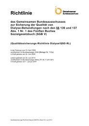Qualitätssicherungs-Richtlinie Dialyse/QSD-RL - Kassenärztliche ...
