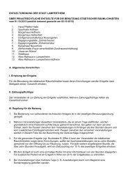 7-09 Entgeltordnung für städtische Räumlichkeiten - Stadt ...