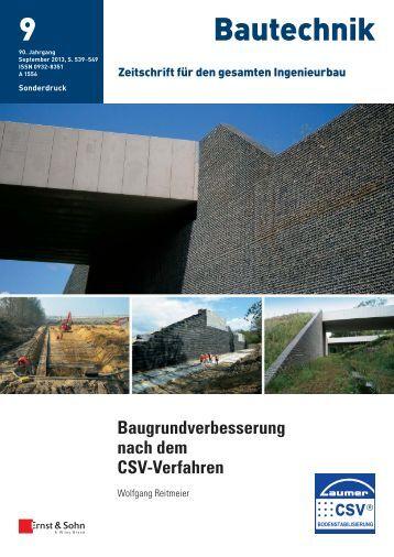 Baugrundverbesserung nach dem CSV-Verfahren - Laumer ...