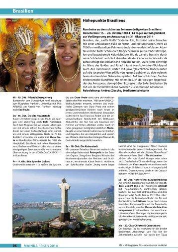 Brasilien - Mainka-Reisen Startseite