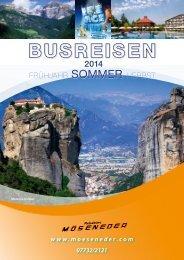 Programm Busreisen Sommer 2014 - Reisebüro Möseneder