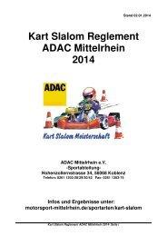 Kart Slalom Reglement ADAC Mittelrhein 2014 - ADAC Mittelrhein eV