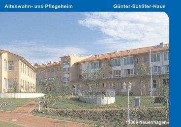 Günter-Schäfer-Haus Neuenhagen - Mathilde Zimmer Stiftung e. V.