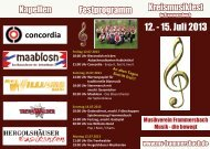 Faltblatt Kreismusikfest - Musikverein Frammersbach