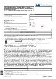 301250 Freistellungsauftrag - Mainzer Volksbank eG