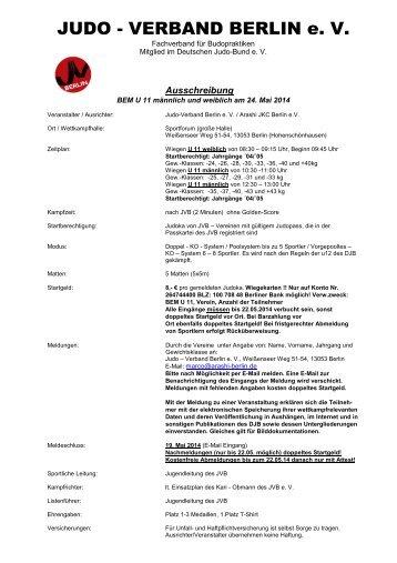 JUDO - VERBAND BERLIN e. V. - Polizei-Sport-Verein Berlin
