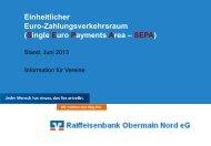 Präsentation zur SEPA-Vereins-Veranstaltung - Raiffeisenbank ...