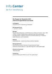 Die Ängste der Deutschen 2013 Untersuchungsmethode der Studie