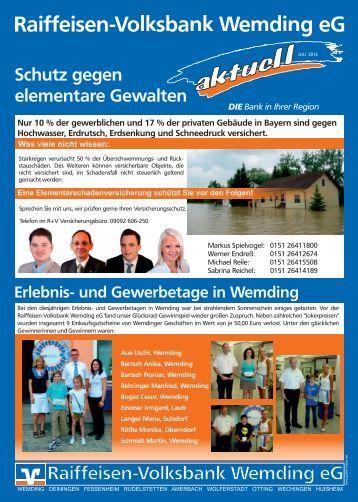 Juli 2013 2. Ausgabe - Raiffeisen-Volksbank Wemding