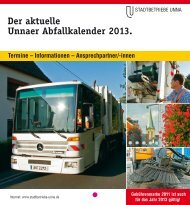 Der aktuelle Unnaer Abfallkalender 2013. - Stadtbetriebe Unna