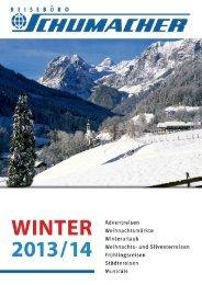 Winterkatalog 2013/2014 - Schumacher Reisen
