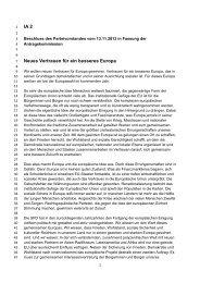 Neues Vertrauen für ein besseres Europa - SPD