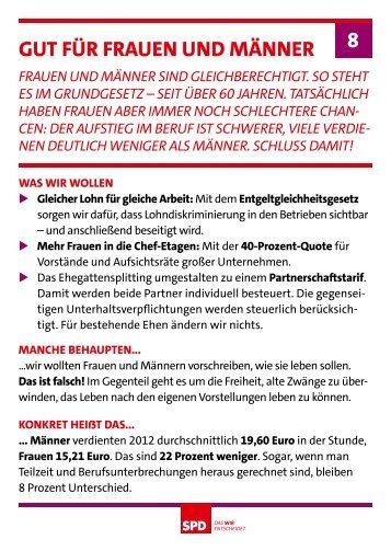 Gut Für Frauen unD Männer 8 - SPD