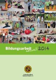 Bildungsarbeit aktuell 2014 (1.1 MB) - Stadtsportbund Magdeburg eV