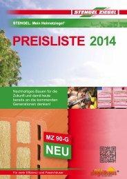 Preisliste 2014 - Stengel Ziegel