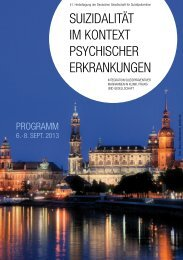 Programm - Deutsche Gesellschaft für Suizidprävention