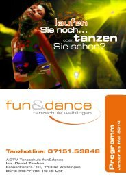 Programm der Tanzschule fun&dance; (980 KB) - Fun & Dance