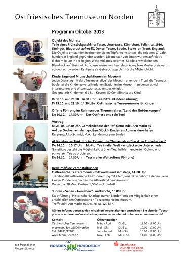 Programm Oktober 2013 - Ostfriesisches Teemuseum