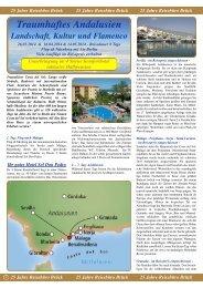 Traumhaftes Andalusien - Reisebüro - Brück