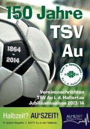 Zeitung vom 29.09.2013 - TSV Au id Hallertau