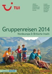 Exklusive Gruppenreisen 2014 - TUI Ferienhaus