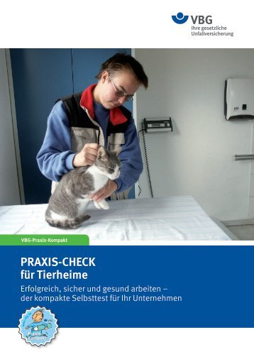 PRAXIS-CHECK für Tierheime - VBG