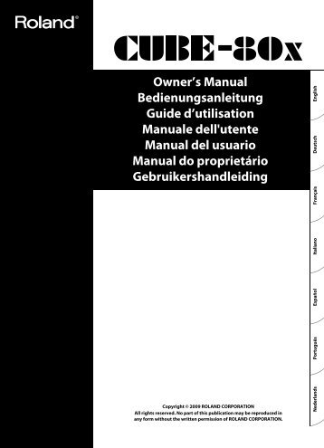 Owners Manual - Roland US