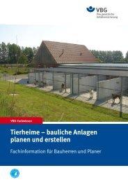 Tierheime – bauliche Anlagen planen und erstellen