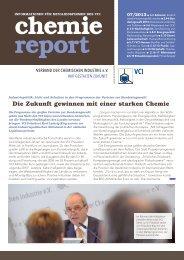 chemie report 07/2013 - Verband der Chemischen Industrie e.V.